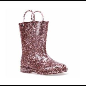 Western Chief Girls Glitter Rain Boots